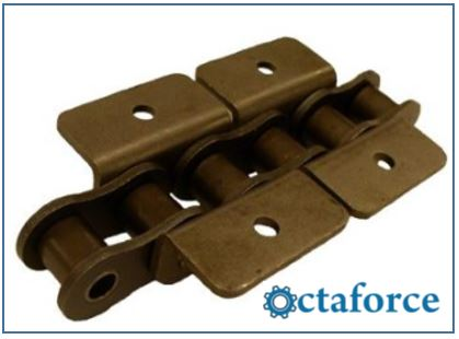 ANSI Standard Roller Chain – WK-1 Wide Contour Attachment- Roller Chain
