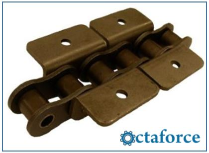 ANSI Standard Roller Chain – WK-2 Wide Contour Attachment- Roller Chain