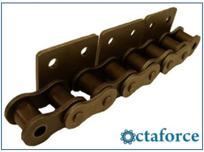 ANSI Standard Roller Chain – WSA-2 Wide Contour Attachment- Roller Chain