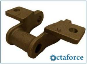 Cast 400 Class Pintle Chain – K-1 Attachment - Engineering Chain