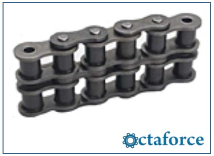 Quest ISO British Standard Double Strand Chain- Roller Chain