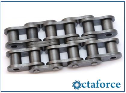Roller Chain- Quest Solid Bushing Heavy Double Strand Roller Chain